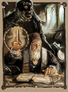Rabbi Loew and the Golem of Prague by Mitchellnolte.deviantart.com on @deviantART