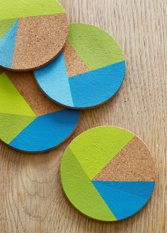 Thanksgiving Table Crafts You can make with your Kids: Painted Coasters