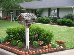 flower bed idea for front yard