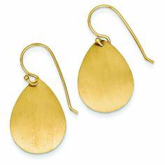 14K Gold Satin Teardrop Disc Earrings PriceRock http://www.amazon.com/dp/B00CIWMH8Q/ref=cm_sw_r_pi_dp_Fos3vb1V0JCD2