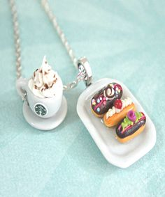 eclairs and starbucks coffee necklace - Jillicious charms and accessories - 1