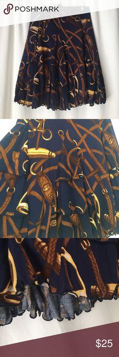 Ralph Lauren skirt Ralph Lauren navy and brown skirt size M Ralph Lauren Skirts