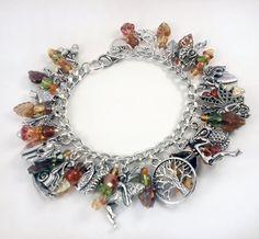 Autumn Fairies Charm Bracelet by Mistress Jennie on Etsy