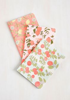 Coolly Noted Notebook Set. When words of wisdom wander into your life, punctually pen them into one of these three paperback notebooks! #multi #modcloth