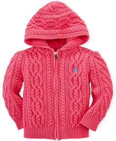 Ralph Lauren Baby Girls\u0027 Zip,Up Sweater , Kids \u0026 Baby , Macy\u0027s