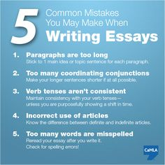 common mistakes in student essays It's common writing mistake to throw commas around liberally when they aren't necessary there are dozens of examples of this error, but here are a few common mistakes example 1.