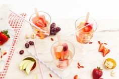 These Boozy Sangria Popsicles Are the Perfect Way to Celebrate National Grape Popsicle Day via Brit Co Cocktail Ingredients, Frozen Treats, Summer Drinks, Sangria, Popsicles, Quick Easy Meals, Baked Goods, Favorite Recipes, Grape Juice
