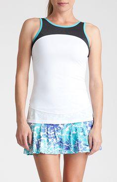 Margaret Tank - Glistening Tide for Tennis – Tail Activewear – Women's Tennis Apparel