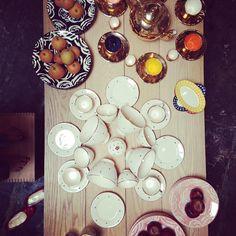 enSoie LA ceramics table