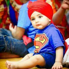 👳Sikh baby the 🏋️super-man. Cute Baby Boy, Baby Baby Baby Oh, Cute Little Baby, Little Babies, Baby Love, Cute Kids, Cute Babies, Baby Kids, Child Baby