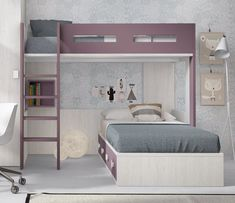 Litera juvenil+ compacta 4 contenedores - Absent Tutorial and Ideas Dream Bedroom, Girls Bedroom, Bedroom Decor, Diy Kids Furniture, Home Decor Furniture, Bunk Bed Designs, Bed Plans, Girl Room, Armoire