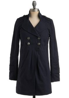 a jacket for spring (if i'm feeling nautical) or fall (if i'm feeling military-ish) in my favorite basic color: navy blue.