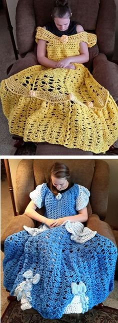 You will love this collection of Crochet Princess Dress Blanket Pattern Ideas and we have several for you to choose from. Links to order ready made too.