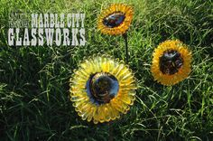Sunflowers - Hand Blown Glass