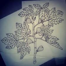 fig tree tattoo, meaning: longevity, conflict, idleness, reconciliation, vigorousness, and overabundance