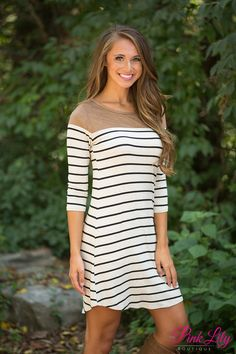 This classic striped dress is such a fall essential - you'll love wearing it to so many occasions!