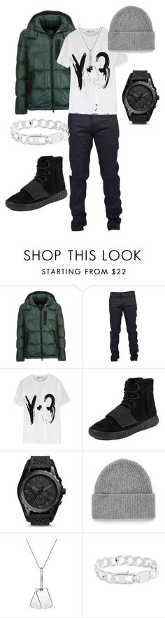 """""""Untitled #43"""" by stylesbylex on Polyvore featuring Geox, Yves Saint Laurent, Y-3, adidas, FOSSIL, Topman, Gucci, Tateossian, mens and men"""