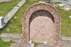 """Minnie Elizabeth Otto's monument matches those of her husband and in-laws who are buried with their dogs and their pet deer.  Her epitaph: """"Her life was a beautiful morning."""""""