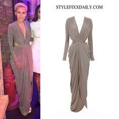Get The Look Courtney Rumbold House Of Cb Villera D Silky Jersey Maxi Dress