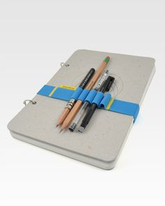 Papelote Skika Large Sketchbook with Elastic Band - I need to try and make an elastic band like this for myself. #sewing #organized #organization #diy
