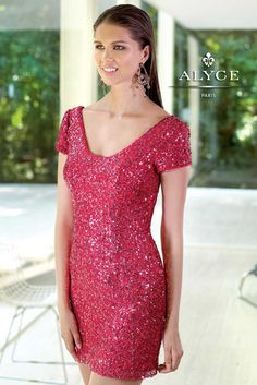 Sleeveless Sequin Cocktail Dresses by Alyce Paris 4303