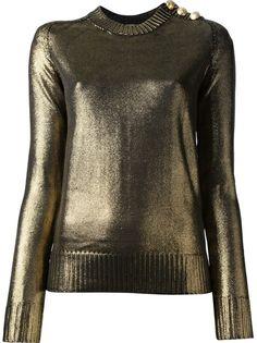 BALMAIN Metallic Sweater