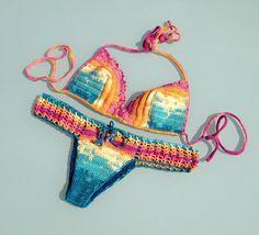 colorful swimwear swimsuits women crochet bikini by senoAccessory  #bikini #swimsuit