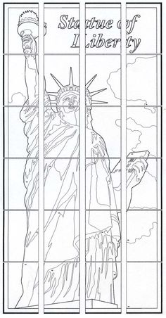Statue Of Liberty Pattern Use The Printable Outline For