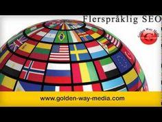Vi promoterer dine produkter og tjenester på engelsk, norsk, svensk, dansk, tysk,finsk, fransk og islandsk.kontakt Golden Way Media   http://youtu.be/zJEuA-RCVho