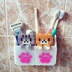 porta spazzolino bambini fai da te con gattini