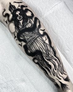 Badass Tattoos, Body Art Tattoos, Sleeve Tattoos, Occult Tattoo, Gothic Tattoo, Tattoo Bein, Real Tattoo, Dark Art Tattoo, Dot Work Tattoo