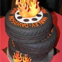 harley davidson tires cake