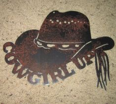 Cowgirl UpCountry Metal ARtHome decorMetal Art by frolicnfriends, $20.00