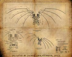 DaVinci's Wings Blueprint - Steampunk Style - Mechanism really works in 3D Animation - https://www.youtube.com/watch?v=hk9wLXh8ob8&list=PL86BA0DD364D8B31E