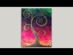 Whimsical Old Tree Acrylic Painting - YouTube