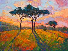 Vivid impressionistic color oil painting landscape by contemporary artist Erin Hanson  Give the gift of beauty this holiday season. Erin Hanson prints available through Fine Art America.