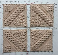 Dunraven Square pattern by Mary Walker Phillips - Baby Mütze Stricken Knitting Blocking, Knitting Squares, Lace Knitting, Knitting Stitches, Crochet Bedspread, Crochet Motif, Knitted Afghans, Knitted Blankets, Stitch Patterns