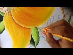 Pintura en tela niña mango # 4 con cony