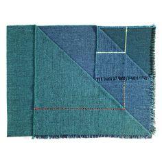 ZUZUNAGA Integrate Time and Space Quaternio Wool Throw Blanket