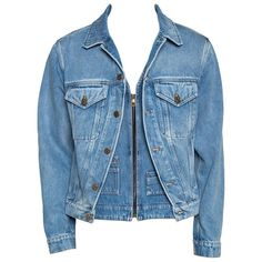 Louis Vuitton Blue Plain Rainbow XIX Denim Jacket M Redo Clothes, Clothing Redo, Demin Jacket, Louis Vuitton Store, Mode Jeans, Painted Jeans, Line Jackets, Jean Jackets, Denim Outfit