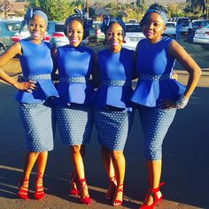 Tswana Traditional Dresses For Bridesmaids 2020 ⋆ African Bridesmaid Dresses, African Wedding Attire, Bridesmaid Dresses 2018, African Attire, African Fashion Dresses, African Dress, Bridesmaids, Queen Wedding Dress, Queen Dress