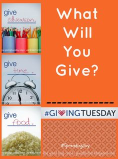 The Good Long Road: {Ten for #GivingTuesday} Ten Ways to Kick Off the Season of Giving!