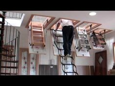 Murphy Larkin Attic Stairs, Attic ladders - YouTube