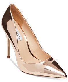 Image 1 of Steve Madden Daisie Classic Pumps Rose Gold Pumps, Metallic Pumps, High Heels Stilettos, Steve Madden Pumps, Manolo Blahnik Heels, Beautiful High Heels, Stiletto Shoes, Classic Pumps, Pump Shoes