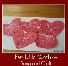Five Little Valentines Song and Craft Activity for Kids