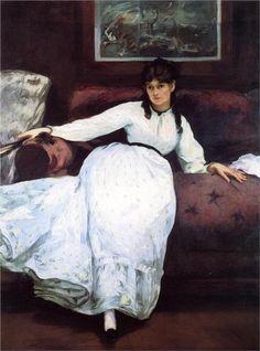 Édouard Manet (1832-1883),  - The Rest, Portrait of Berthe Morisot, 1870