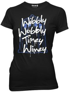 Amazon.com: Dr. Who Women's Wibbly Wobbly Timey Wimey T-shirt: Clothing