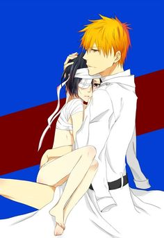 quincy ichigo bandaged rukia Ichigo x Rukia Ichigo Y Rukia, Bleach Rukia, Bleach Fanart, Bleach Manga, Bleach Couples, Otaku Anime, Anime Art, Anime Love Couple, Roronoa Zoro