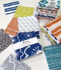 Bella charm packs and fat quarters now available on the blog!