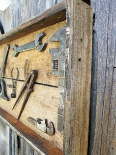 Rustic display of vintage mechanic and woodworking tools. Eight quality tools are display on old bar Woodworking Vacuum, Japanese Woodworking Tools, Essential Woodworking Tools, Antique Woodworking Tools, Woodworking Furniture Plans, Antique Tools, Old Tools, Vintage Tools, Woodworking Equipment